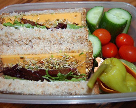Sprouted Grain Sandwich Bento
