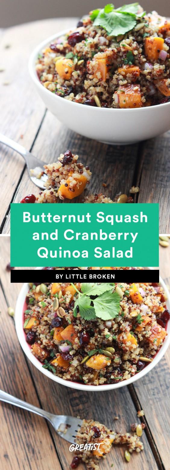 Butternut Squash and Cranberry Quinoa Salad Recipe
