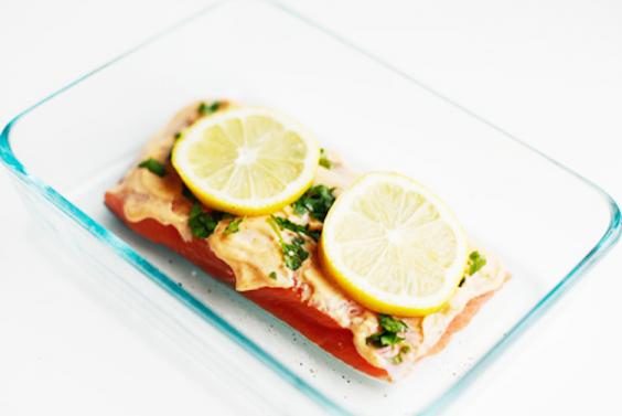Flaky Microwaved Salmon