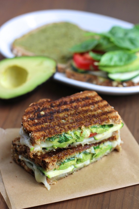 4. Zucchini and Avocado Grilled Cheese