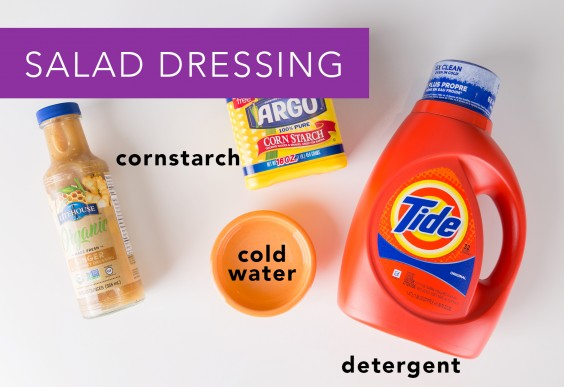 Salad Dressing Stain