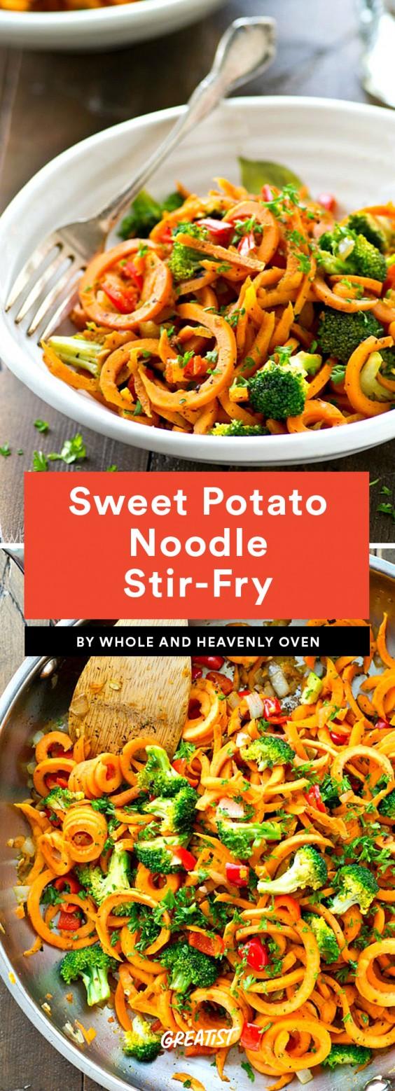 Sweet Potato Noodle Stir-Fry