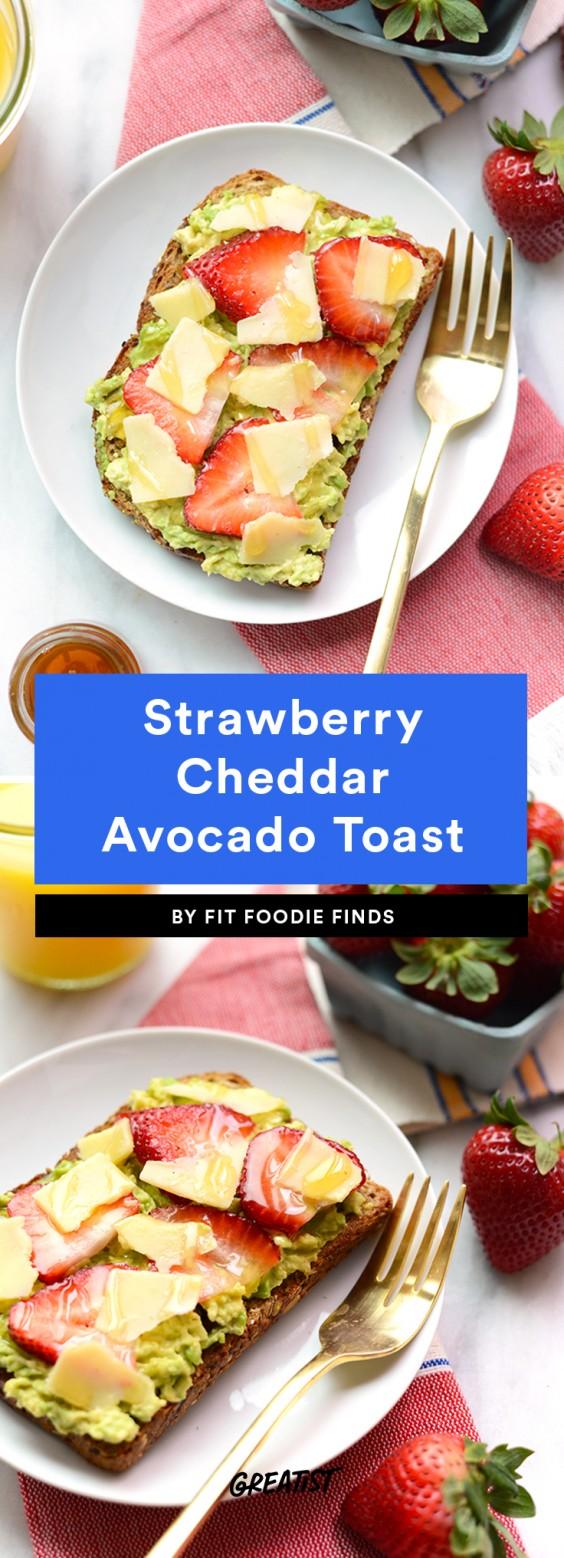Strawberry Cheddar Avocado Toast