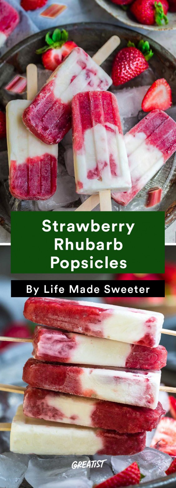 Popsicles: Strawberry Rhubarb