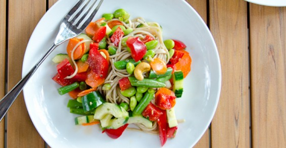 Summer Chopped Soba Noodle Salad