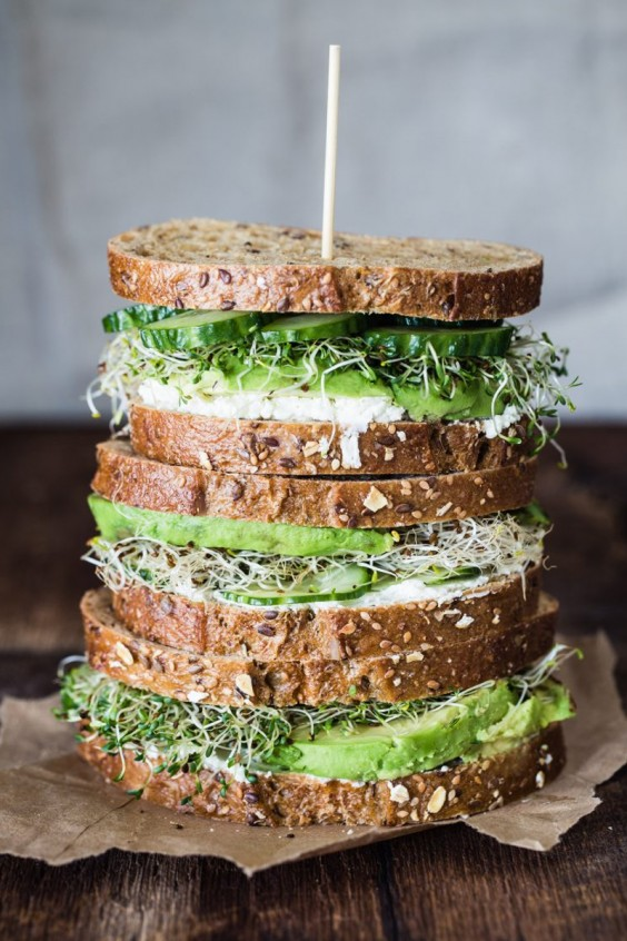 Avocado and Goat Cheese Sandwich