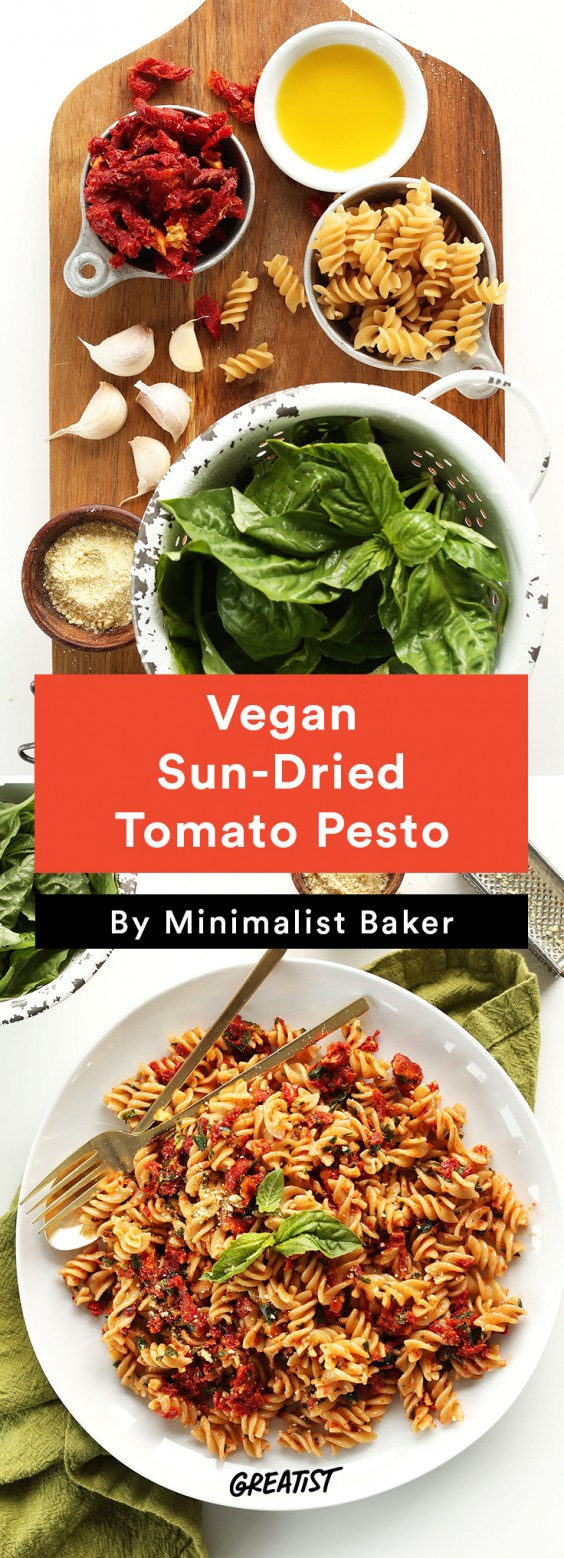 Vegan Sun-Dried Tomato Pesto Sauce Recipe