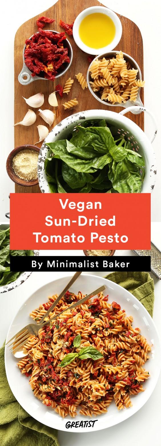 Vegan Sun-Dried Tomato Pesto Sauce Recipe