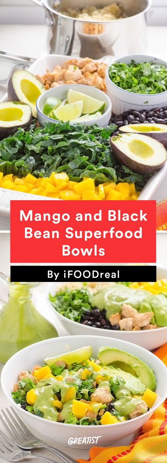 Mango and Black Bean Superfood Bowls