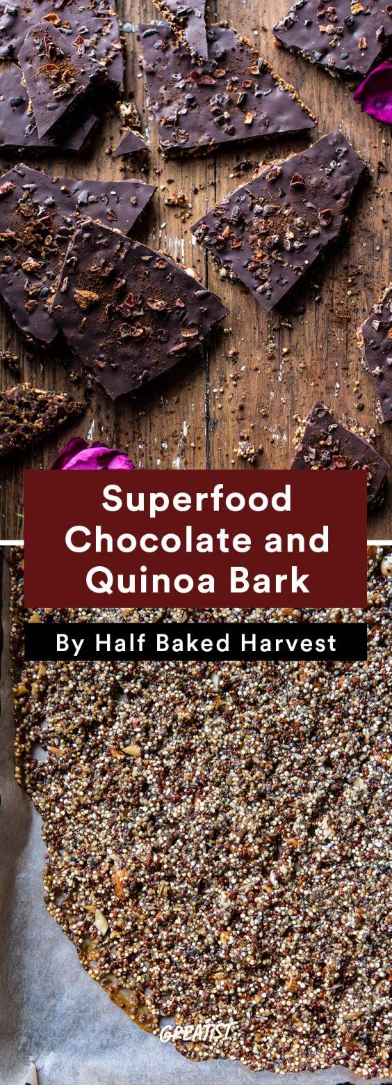 Travel Snacks: Chocolate and Quinoa Bark