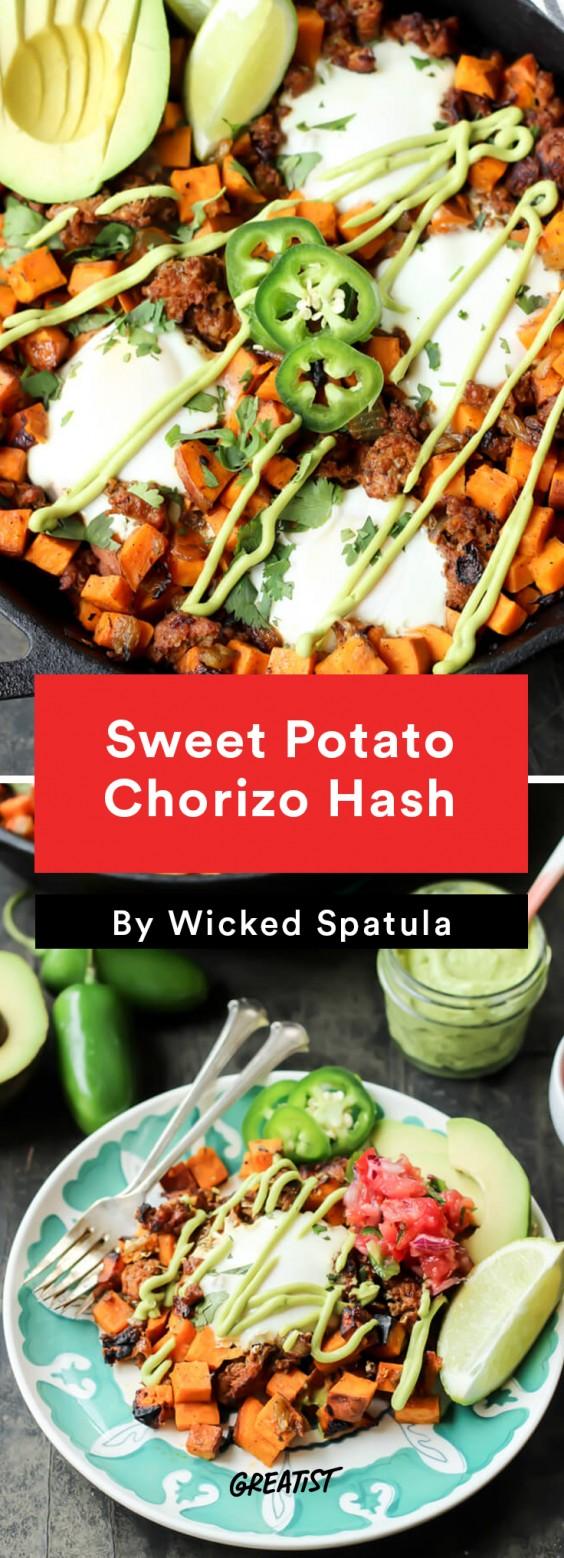 Sweet Potato Hash: Chorizo Hash