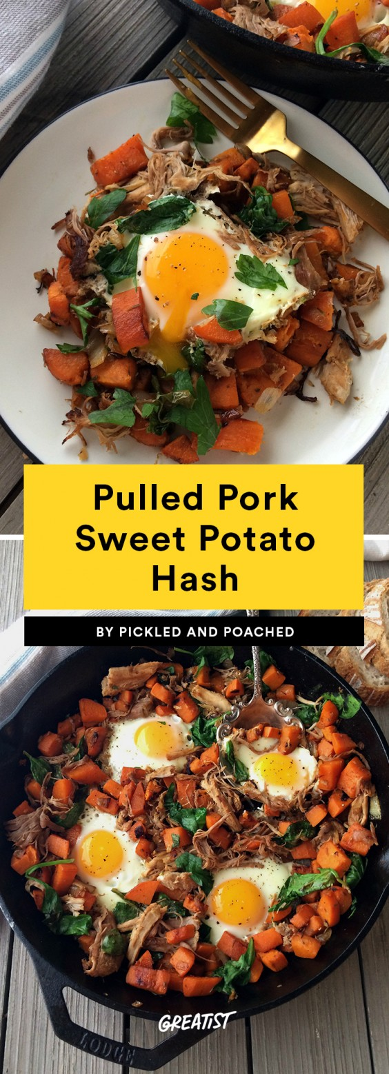 Pulled Pork Sweet Potato Hash