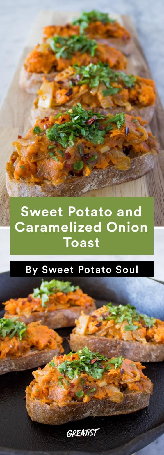 Sweet Potato Soul: Sweet Potato and Caramelized Onion Toast