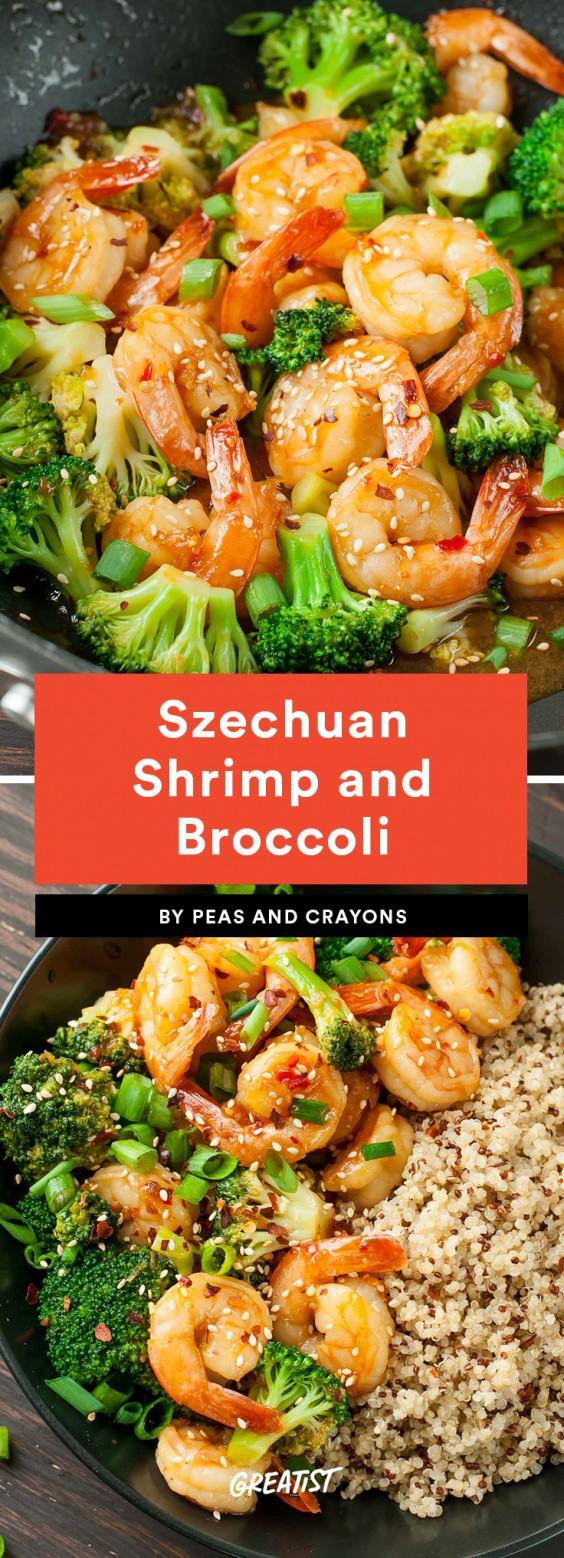 Szechuan Shrimp and Broccoli Recipe