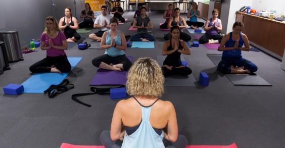 TogoRun Employees Doing Yoga