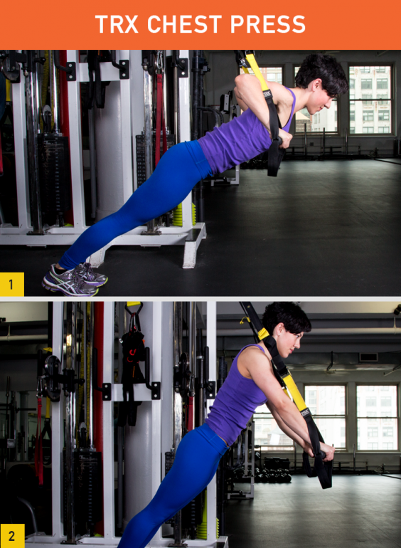 Trx exercises chest press