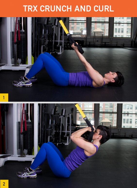 TRX Crunch and Curl