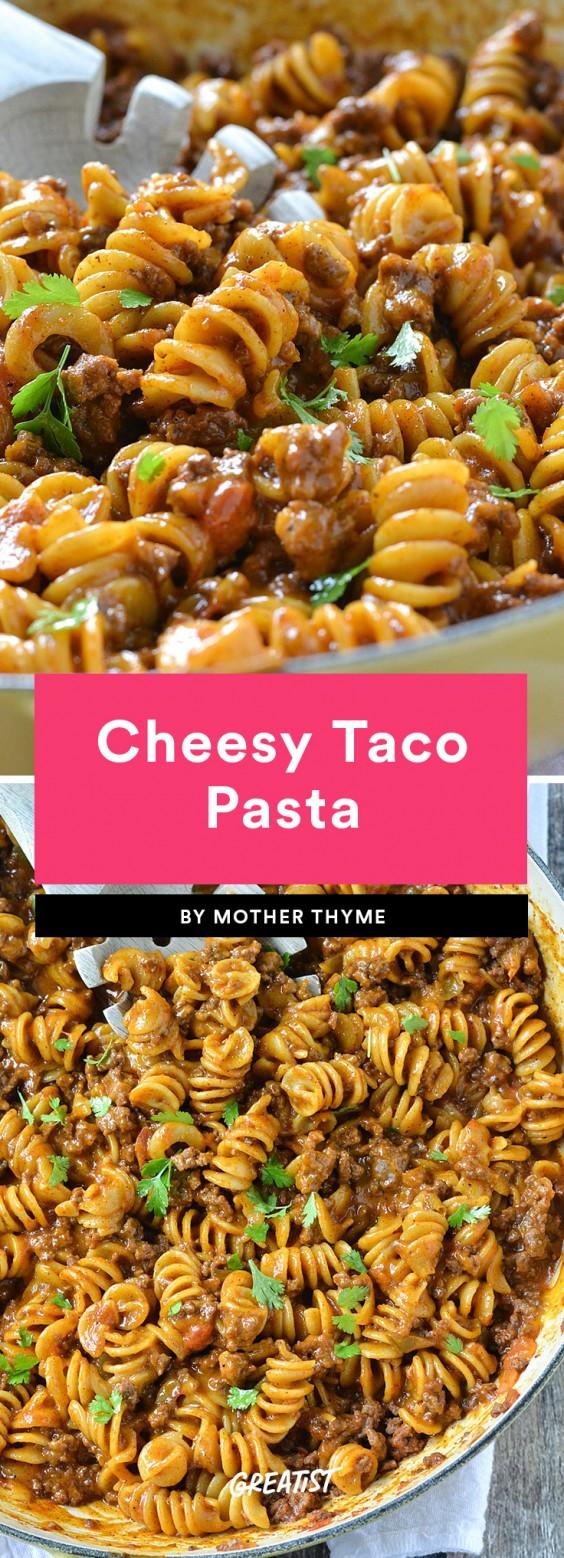 Cheesy Taco Pasta Recipe