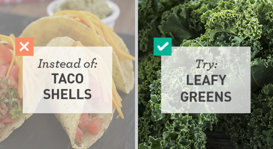 Lower-Carb Alternative: Leafy Greens for Taco Shells