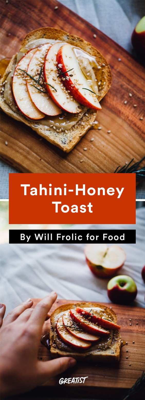 will frolic for food: Tahini-Honey Toast