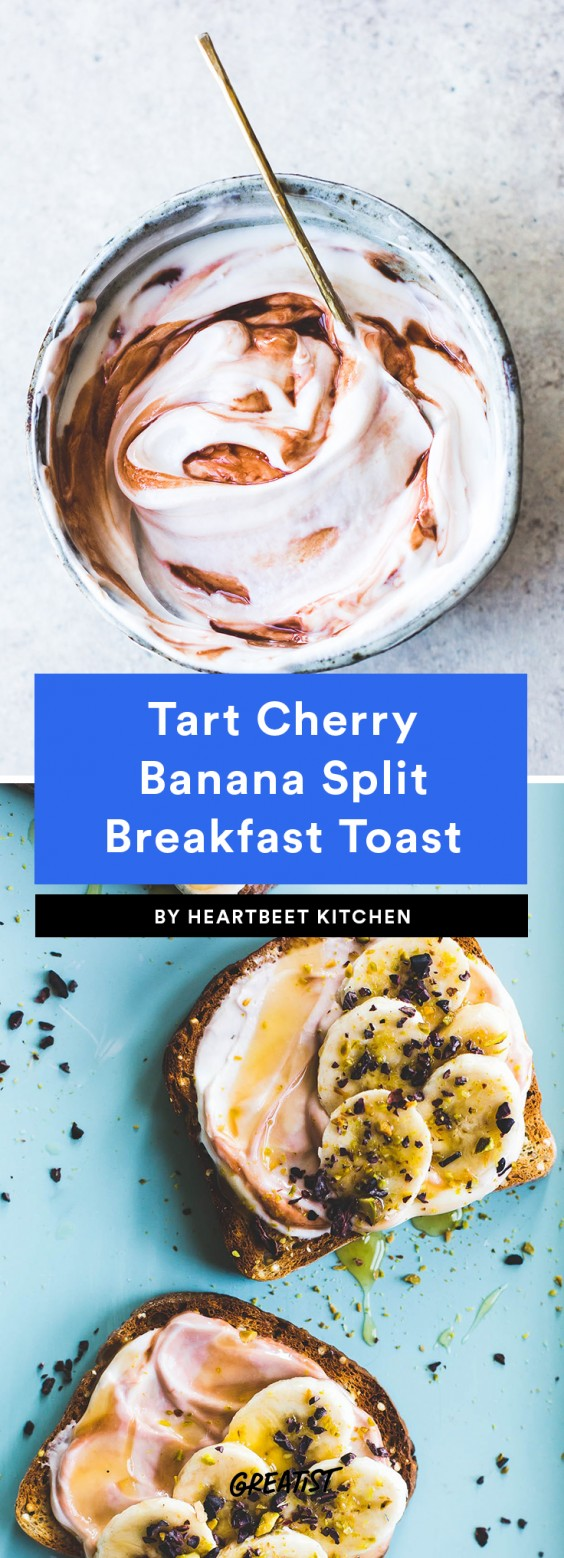 Tart Cherry Banana Split Toast