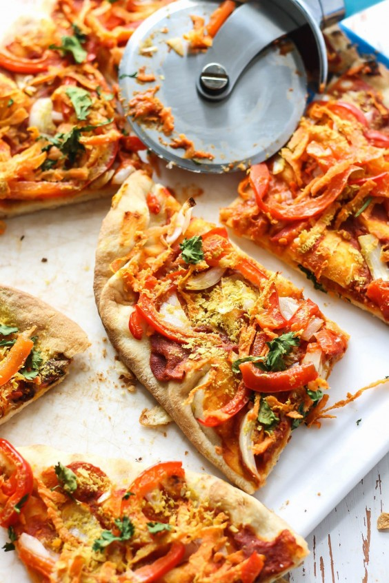 Dairy-Free Thai Naan Pizza