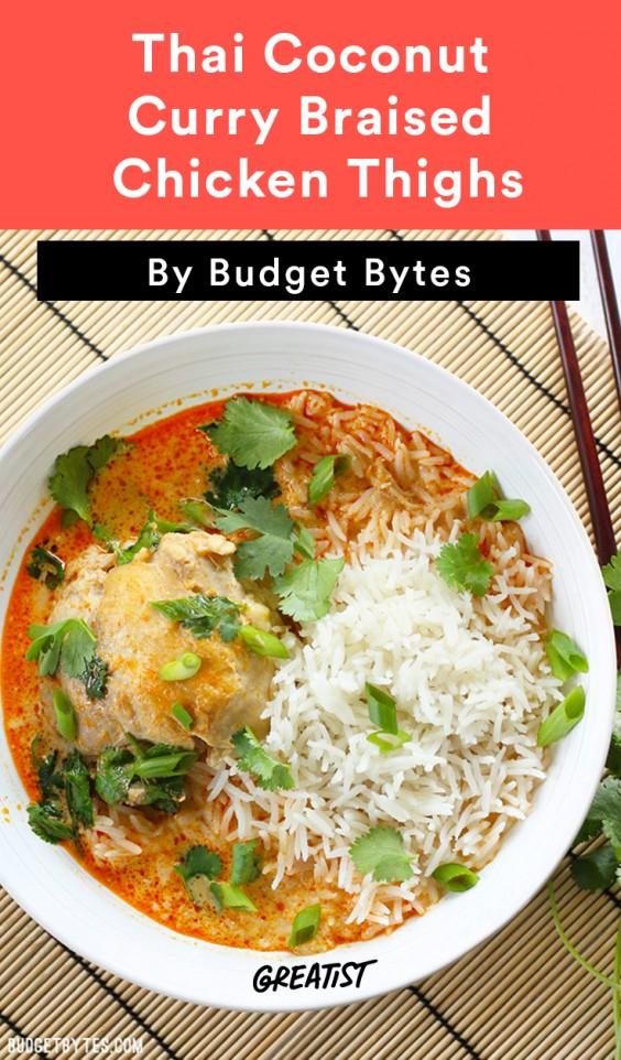 Chicken Thigh Recipes: Thai Coconut Curry Chicken Thighs