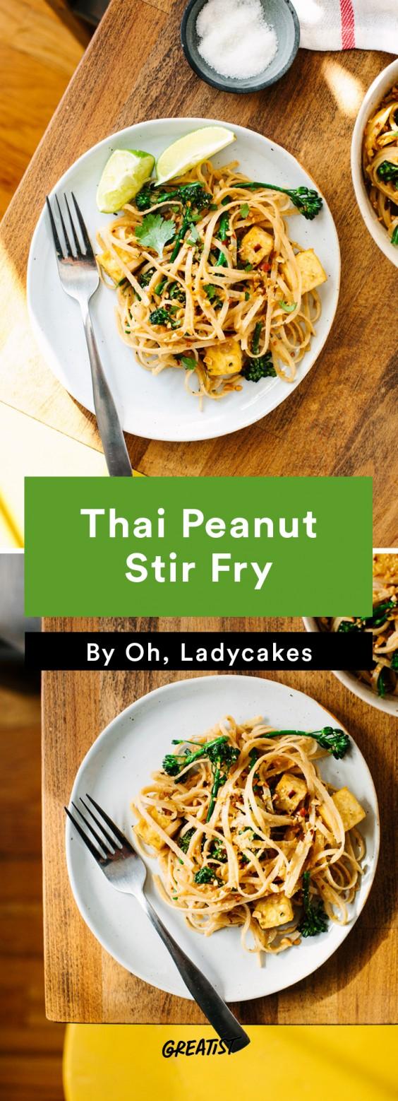 oh ladycakes: Thai Peanut Stir Fry