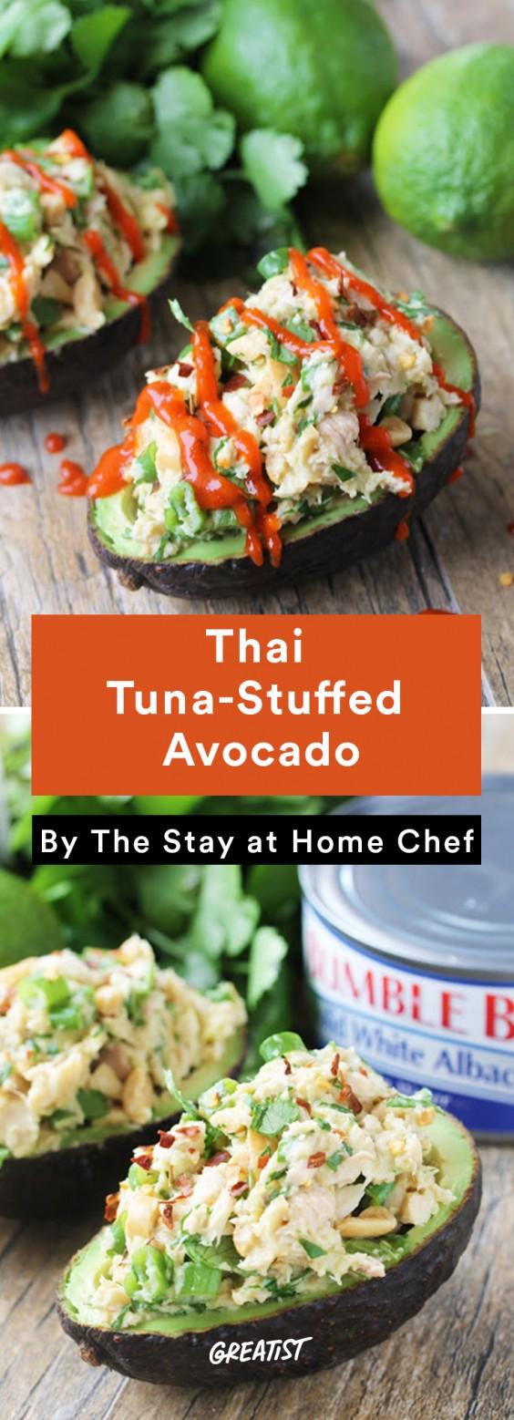 Stuffed Avocados: Thai Tuna