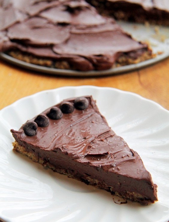 7. Salted Cookie Crust Mousse Pie