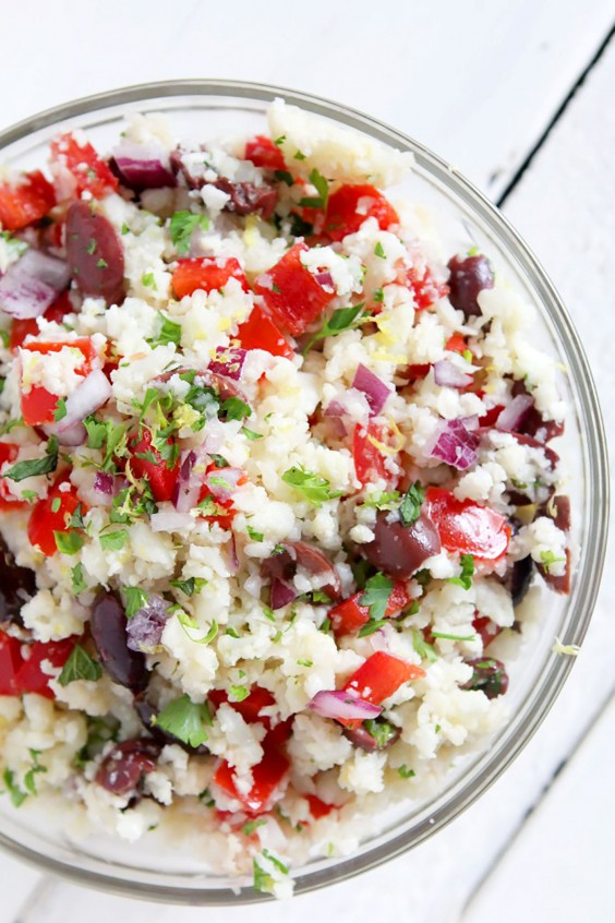 Whole30 Lunches: Cauliflower Rice Tabouleh