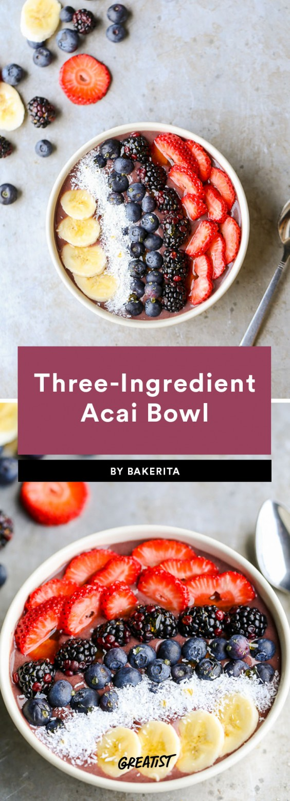 three ingredient breakfast: acai bowl