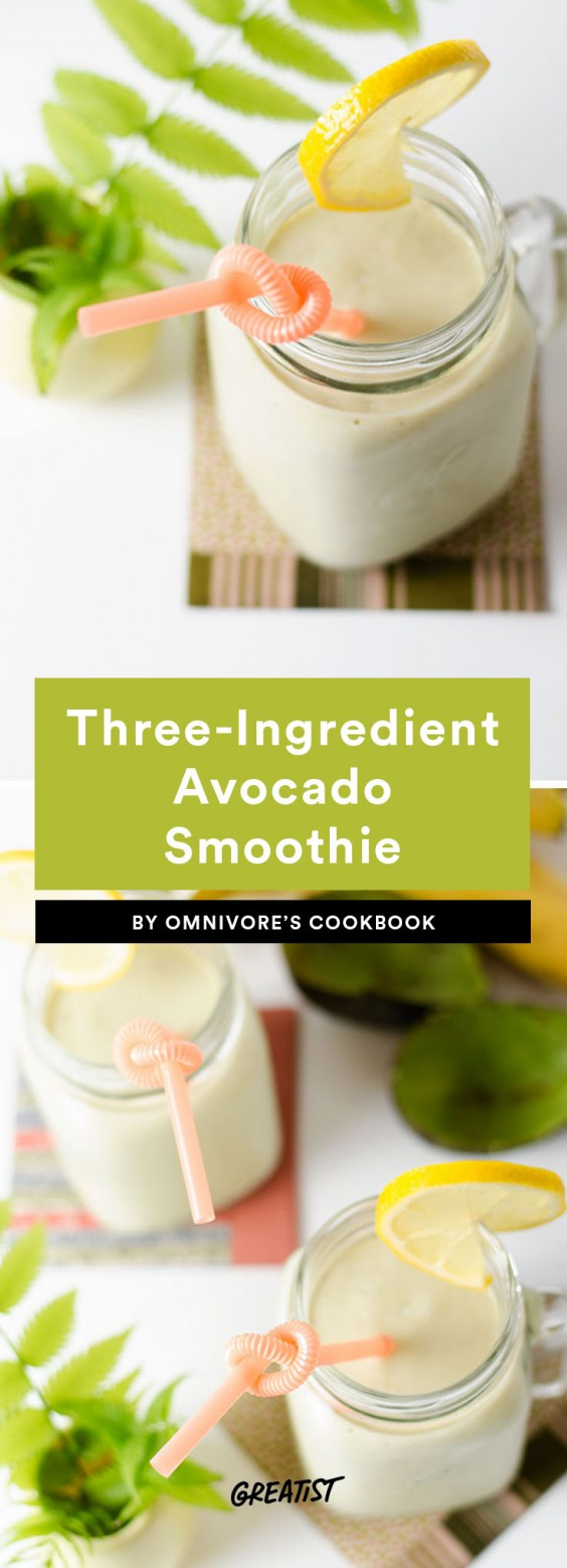 three ingredient breakfast: Avocado Smoothie