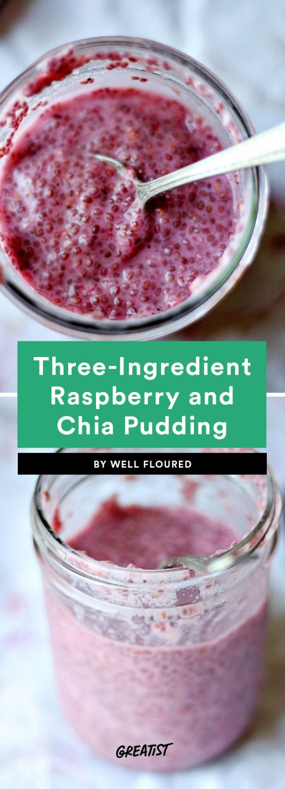 three ingredient breakfast: Chia Seed Pudding