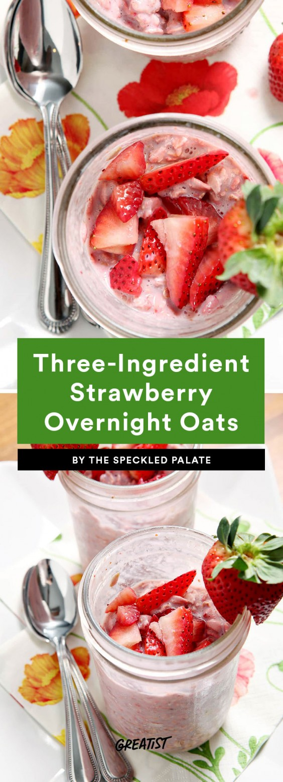 three ingredient breakfast: overnight oats