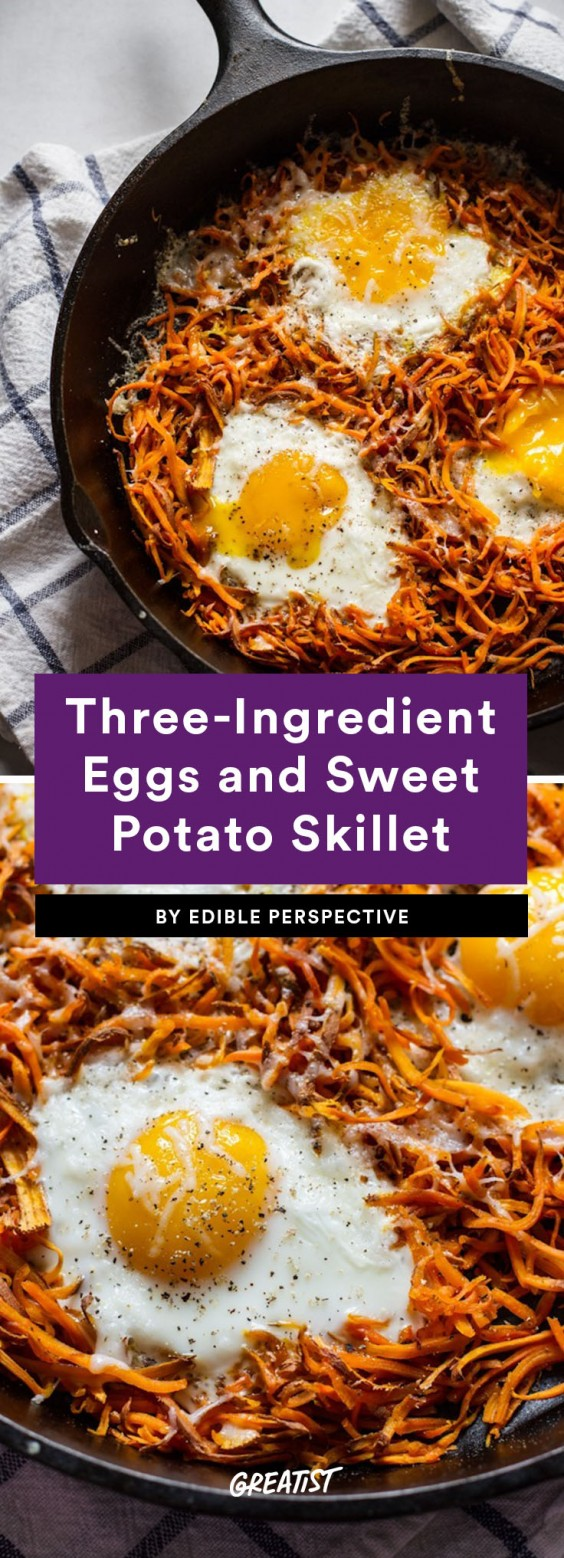 three ingredient breakfast: Sweet Potato Skillet