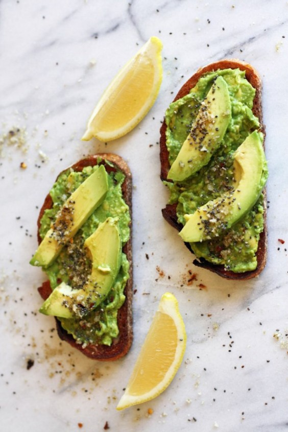 Toasted Avocado Tartine With Cumin Salt and Chia Seeds