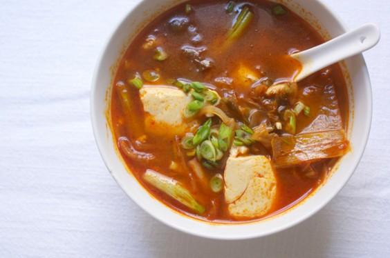 Silken Tofu and Kimchi Soup