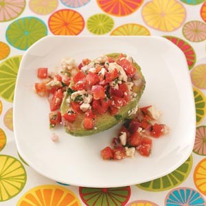 12. Tomato-Stuffed Avocados