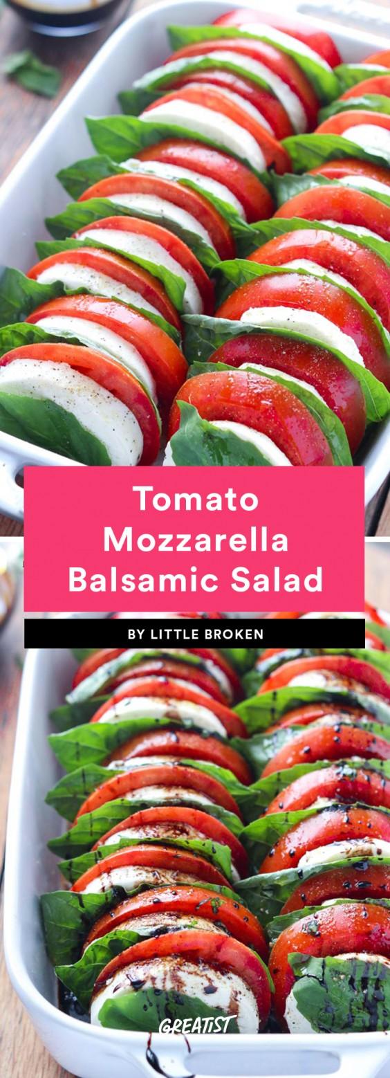 Tomato Mozzarella Balsamic Salad Recipe
