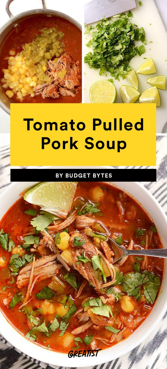 Tomato Pulled Pork Soup