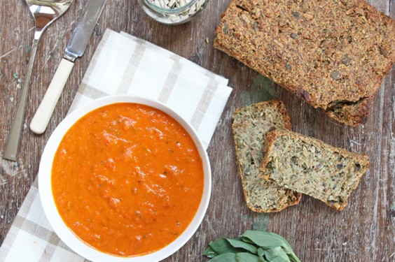 Eat Your Way to Clear, Healthy Skin: Roasted Red Pepper and Tomato Soup