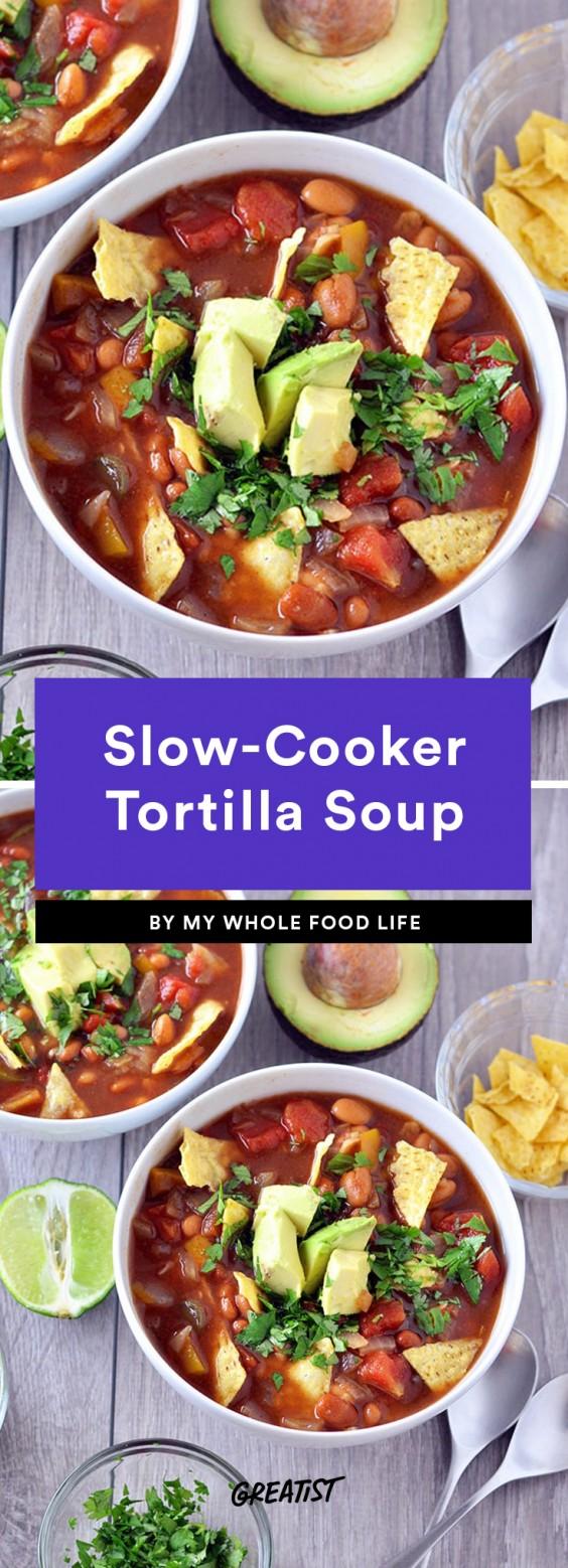 Slow-Cooker Tortilla Soup