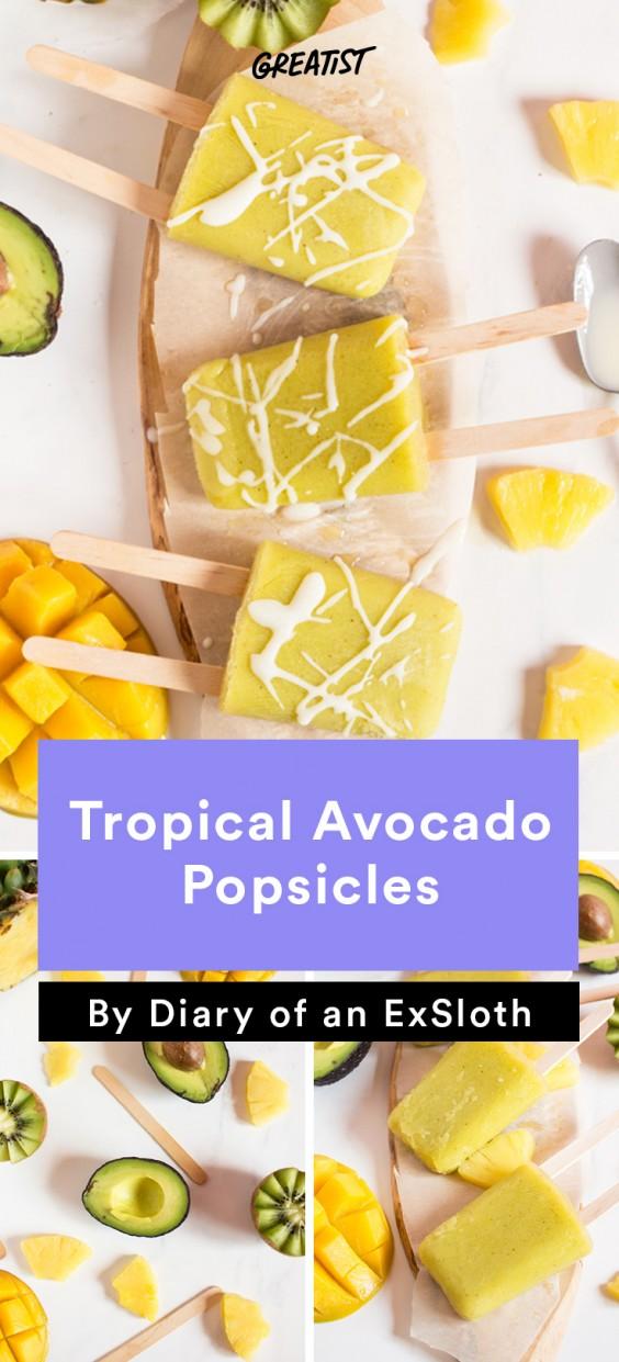 ExSloth roundup: Tropical Avocado Popsicles