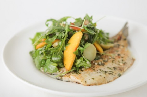 Trout with Peaches