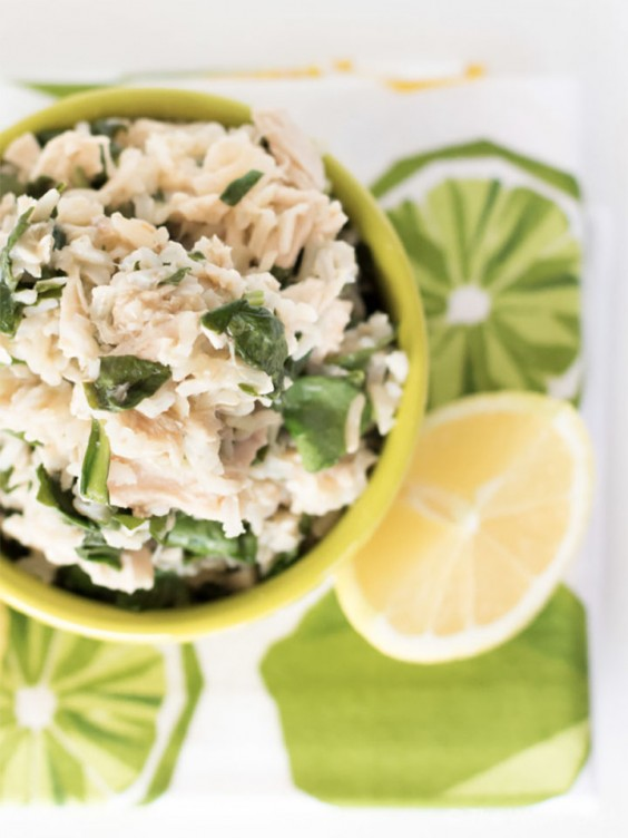 Lemon Rice with Tuna and Spinach
