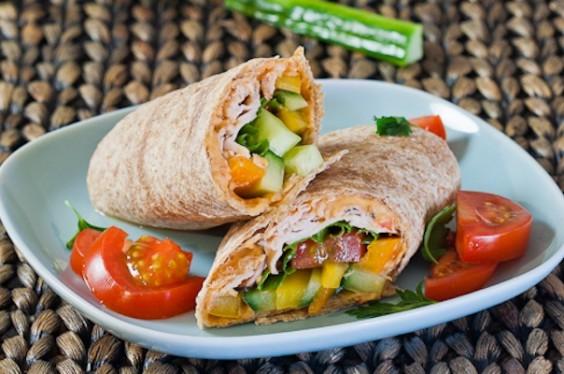 Turkey Hummus Wrap