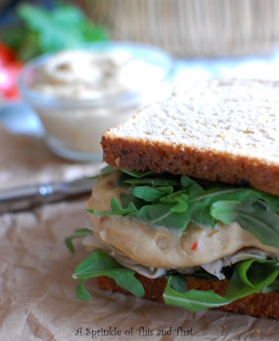 Turkey and Hummus Club Sandwich