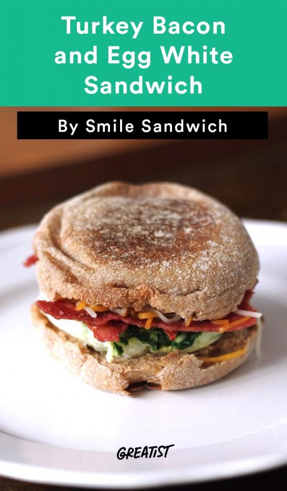 Starbucks Copycat Turkey Bacon and Egg White Sandwich
