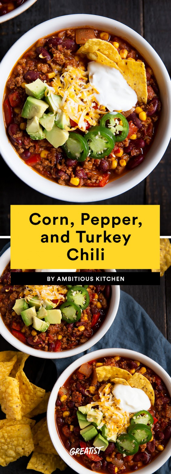 Corn, Pepper, and Turkey Chili